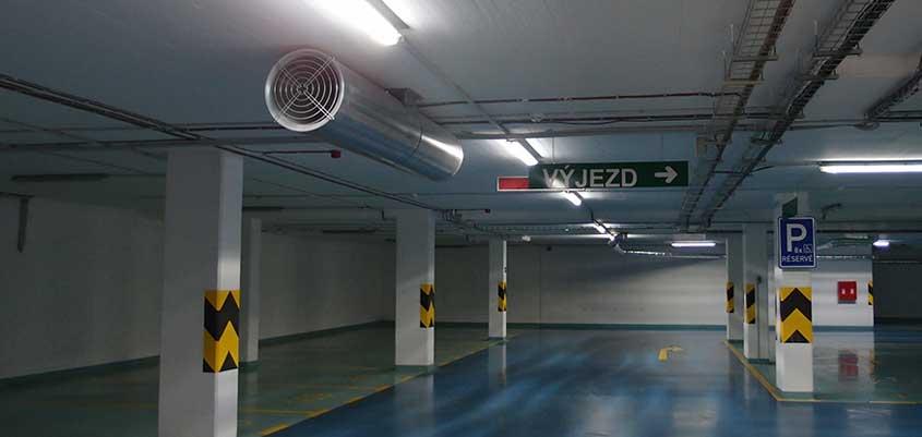 Ventilación en parking