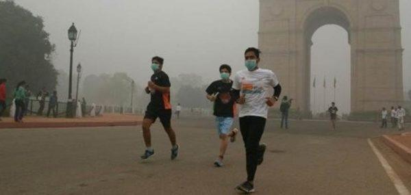 Deporte con aire contaminado