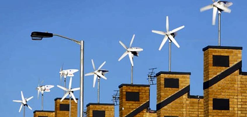 energía eólica en el hogar